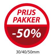 productstickers prijs pakker  STV-049