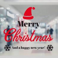 raamsticker merry christmas VA-0109