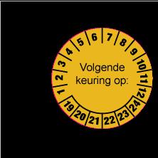 Keuringsstickers op rol SR-002