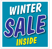 Etalagesticker sale winter blauw 1 artikel STA-116