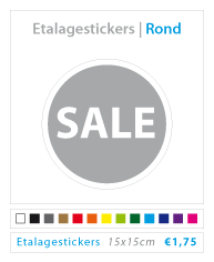 ronde etalagestickers