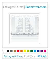 Raamstreamer etalagestickers