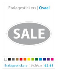 Ovale etalagestickers