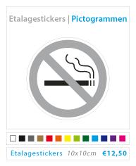 Pictogrammen etalagestickers